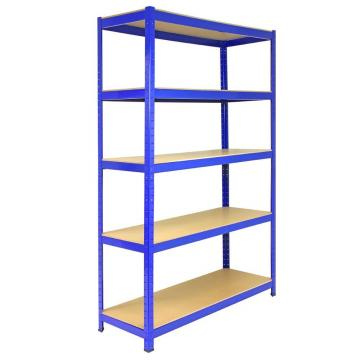 steel plate storage rack 5 tiers metal rivet boltless shelving industrial shelving